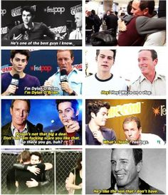 Dylan O'brien and Linden Ashby - love their father/son relationship on and off the show!