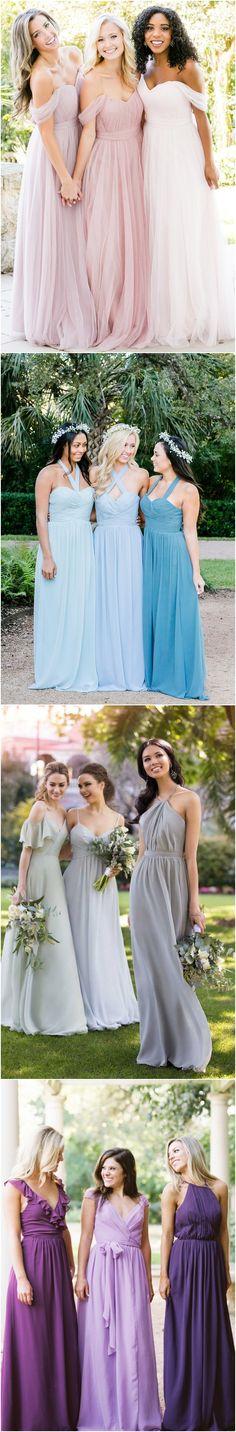Ombre color bridesmaid dresses#weddings #dresses #weddingideas #bridesmaids