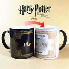Harry Potter Mug Color Changing Cup,Mischief Managed /platform 9 3/4 Creative Gifts Coffee mugs,Sensitive Ceramic tea Mug cup