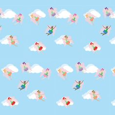 Flower Fairies fabric by kiwicuties on Spoonflower - custom fabric