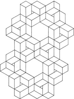 free Optical Illusion 11 Coloring page
