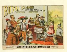 Springfield, OH  St. John Sewing Machine late 1800's trade card