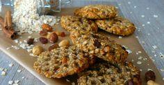 Recept na Banánové ovesné sušenky s hrozinkami a oříšky z kategorie snadno a rychle, fitness, pro začátečníky: 180 g celozrnných ovesných vloček...
