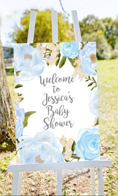 Welcome Sign elephant baby shower welcome sign baptism welcome sign birthday party welcome sign baby girl yellow brown roses sign