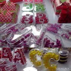 Novidade! Caixinhas de acrílico em formato de letras. Apenas R$ 2,70! Aceitamos encomendas❤️. #festa #goparty #aiquerofesta #correquejatavendendo