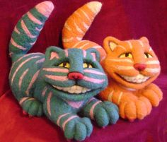 needle felted cat patterns | ... Collectible Artist Teddy Bears-Needle Felting Creations-Catologue -I NEED TO LEARN HOW TO DO THIS!