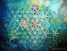 Flower of Life and the Divine Feminine combined - Prism Vision by Krystleyez