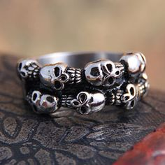 Doble anillo de punk rock $12.42 : mujeres glamour