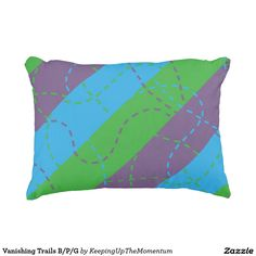 Vanishing Trails B/P/G Accent Pillow