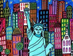 Statue of Liberty Art New York City Print by HeatherGallerArt, $24.00