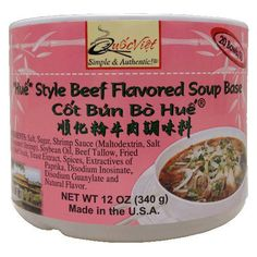 """Quoc Viet Foods """"""""Hue"""""""" Style Beef Flavored Soup Base, 12 oz"""