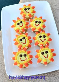 Summer Sun Cupcakes..Too cute and looks easy too!