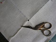Como desfiar  o tecido p/bordar