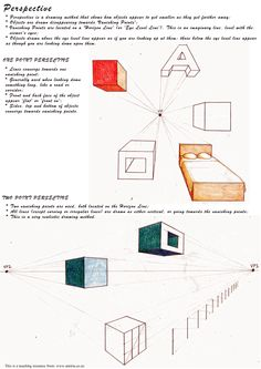 One and two point perspective handout.