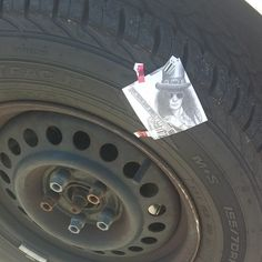 """April Fools Day Prank: Tell your Dad someone """"slashed"""" his tires!  ;)"""
