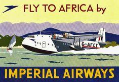 vintage everyday: Vintage British Aviation Posters, ca. 1920s-1930s