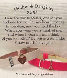 I think these mother & daughter bracelets are SO sweet!! Create your own at  keep-collective.com/with/jenniferblose