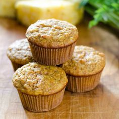 Carrot Pineapple Paleo Muffins are perfect for breakfast or a quick snack. And they are gluten-free, grain-free and refined sugar-free.