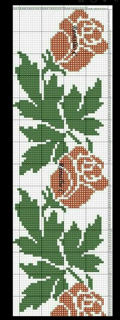 This Pin was discovered by Rey Cross Stitch Alphabet Patterns, Cross Stitch Bookmarks, Cross Stitch Borders, Cross Stitch Rose, Cross Stitch Baby, Cross Stitch Flowers, Cross Stitch Designs, Cross Stitching, Cross Stitch Charts