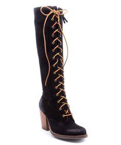 Love this Black Suede Frederica Boot on #zulily! #zulilyfinds