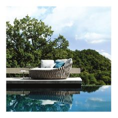 tosca daybed is an luxury outdoor furniture from tribù designed