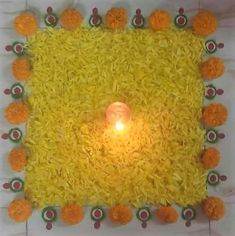 Get the best rangoli design for Diwali. Use bright colored rangoli powder to match the festive spirit. Easy Rangoli Designs Diwali, Rangoli Simple, Rangoli Designs Flower, Rangoli Ideas, Diwali Rangoli, Flower Rangoli, Beautiful Rangoli Designs, Kolam Designs, Mehandi Designs