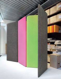 http://www.buzzispace.com/  Acoustical Felt Panels that zip together