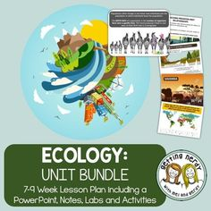 How do organisms interact with one another and their environment? Find everything you need to teach with this ecology and ecosystems unit bundle that is complete with a guiding PowerPoint, tons of activities, graphic organizers and more. It's a 7-9 week unit that even includes the DIGITAL documents for Google Classroom!