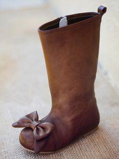maci brown bow boots by joyfolie Fashion Kids, Little Girl Fashion, Look Fashion, Toddler Fashion, Cheap Fashion, Fashion Shoes, Little Girl Boots, My Little Girl, My Baby Girl