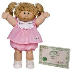 Cabbage Patch Kid.. I had one of the Preemie dolls that came out later. Dolls For Sale, Kids Toys, 90s Kids, Toys For Girls, Garbage Pail Kids, Cabbage Patch Kids, Popular Toys, Child Life, Xavier Roberts