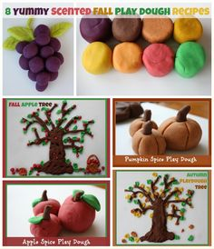 These 8 scented fall play dough recipes are a result of our experiments along the way.
