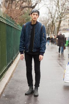 Streetstyle: Kim Tae Hwan in Paris by Melodie Jeng