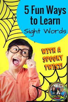 Read about 5 fun activities to do with learning sight words. Check out the cute monster task cards with the sight words on them! #soltrainlearning#sightwords#sightwordactivities#halloweengames#halloweenactivities#wordgames#firstgradeactivities