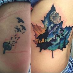 Cute cover up by @ronaldteam _______ @sabregloves @sabregloves #CoverUp #Tattoo…
