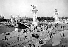 #Pont Alexandre III dans les années 1900...Pas de #trafic ! #Paris #France #tourism #tourisme #tourismus #Traveling