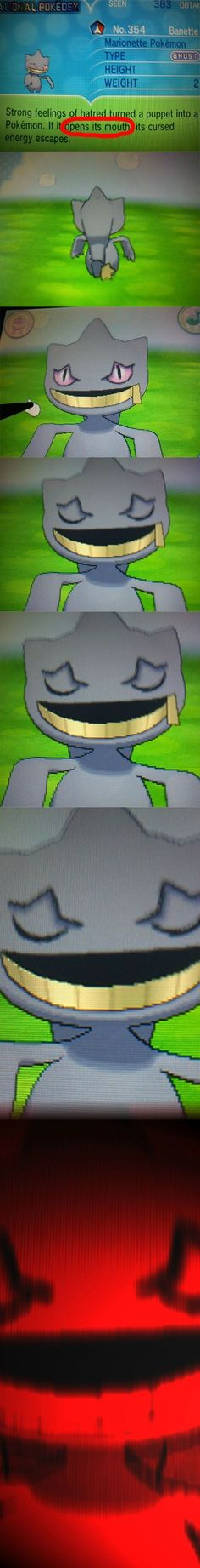It's a MARIONETTE POKEMON OH LORD