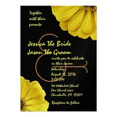 19 Best Black And Yellow Wedding Invitations Images Yellow Wedding