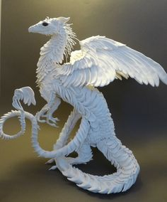 #dragon #sculpture CreaturesFromEl. I love this woman's work so much. Everything looks so simple and ethereal, I wish I could buy it all