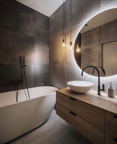 Home Decor Styles .Home Decor Styles Bathroom Design Luxury, Home Interior Design, Interior Livingroom, Interior Ideas, Bathroom Stand, White Bathroom Tiles, Bathroom With Tv, Small Dark Bathroom, Small Bathroom Interior