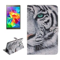 For+Tab+S+8.4+Tiger+Pattern+Leather+Case+with+Holder,+Card+Slots+&+Wallet