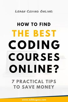 To help you save time and money, use these tips to get your money's worth with online coding courses when learning new skills in programming. Online Coding Courses, Learn Coding Online, Start Coding, Learn Computer Science, Computer Coding, Computer Laptop, Learn Programming, Computer Programming, Programming Languages