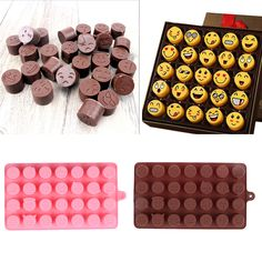 28-even DIY Emoji Cake Chocolate Cookies Ice Cube Soap Silicone Mold Tray Baking Mold Personality Expression Ice mold  Price: 1.58 USD