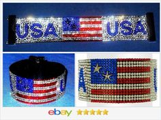 USA RED WHITE AND BLUE FLAG crystal Bracelet USA SELLER  50% OFF #EBAY http://stores.ebay.com/JEWELRY-AND-GIFTS-BY-ALICE-AND-ANN