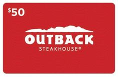 Ends today 7/23!  Easy Entry! One winner. $50.00 Outback gift card