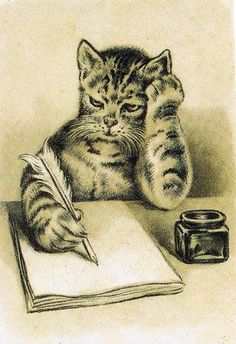 """""""Let's see How can I start this...Dear Tom,  I've found a stray that is more into the CAT SCENE...love, Pussy galore!!!"""