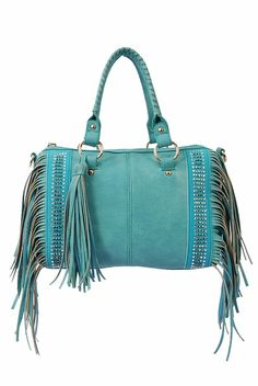 COWGIRL STYLE PURSE Premium Fringe and Rhinestones Faux Leather Barrel Style with Tassel & Stitched Handles Western Handbag Purse
