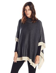 Splendid Women's Cashmere Blend Turtleneck Poncho Sweater, Heather Charcoal/Camel, Medium Splendid http://www.amazon.com/dp/B00VSWZQVM/ref=cm_sw_r_pi_dp_n3f9vb0PZ71EF