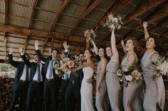 R E A L // W E D D I N G S – NATALIE DEAYALA COLLECTION santa barbara rustic chic wedding. bridesmaid dresses in dove grey by natalie deayala collection