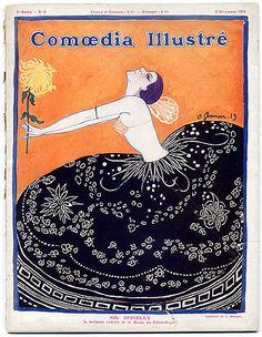Comoedia Illustré 1919 n°2 Ballets Russes, Russian Ballets, Gesmar, Leon Bakst, Massine, Les Femmes de Bonne Humeur Vintage high fashion magazine  | Hprints.com