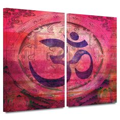 'Om Mandala' by Elena Ray 2 Piece Graphic Art Gallery-Wrapped on Canvas Set